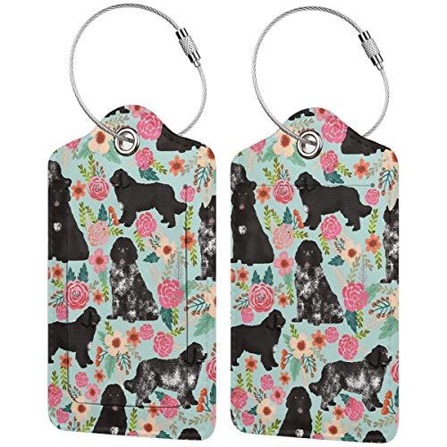 Jirafa etiquetas de equipaje de piel sintética con cabeza colorida brillante y colorida etiqueta de identificación de equipaje con tapa de privacidad de espalda completa y lazo de acero inoxidable