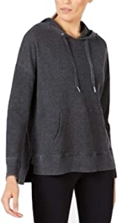 Calvin Klein High-Low Hem Hoodie Slate Heather Grey M