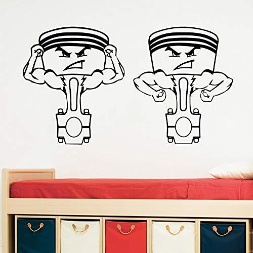 Tianpengyuanshuai mooie tanden zelfklevend vinyl waterdicht wandtattoo decoratie badkamer tegels slaapkamer afneembare sticker creatieve stickers