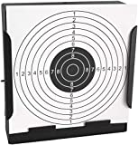 RELMON Pellet Trap with 20 Shooting Paper Targets, BB Trap Target with Heavy Steel Metal Design, Airsoft Pellet Trap Catcher (Black)