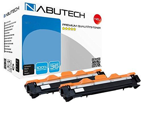 Nabutech compatibele toner vervangen TN-1050 XXL versie voor Brother DCP 1510 1512 A 1601 1610W 1612W 1616NW, 1000 pagina's zwart per cartridge