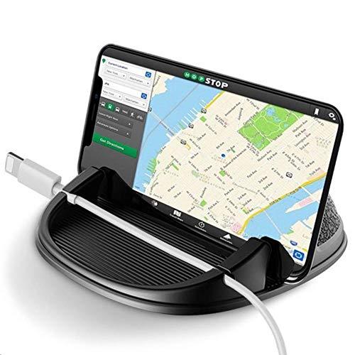 Wonsidary Handyhalterung Auto, Smartphone Handyhalter Silikon für Auto, KFZ Armaturenbrett Antirutschmatte für iPhone XS/Xs Max/XR/X/8/7/6, Samsung Galaxy, Google Nexus, Huawei, GPS-Geräte (Schwarz)
