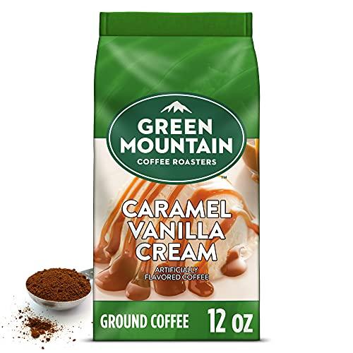 ground coffee storages Green Mountain Coffee Roasters Caramel Vanilla Cream, Ground Coffee, Flavored Light Roast, Bagged 12 oz
