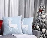 Prodotto: set di cuscini decorativi natalizi (2 pezzi), gradevole e invernale. Caratterizzato da una lavorazione elaborata e bella con un bellissimo motivo a renna. Applicazione ricamata renna bianca soffice realizzata a mano. Con chiusura lampo nasc...