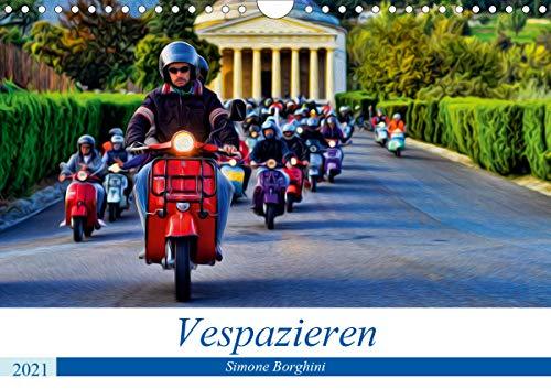 Vespazieren (Wandkalender 2021 DIN A4 quer)