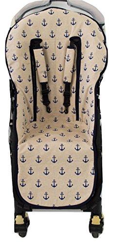Borda y más AMZ8800 - Colchoneta bugaboo y protector arnés silla paseo, color sailor