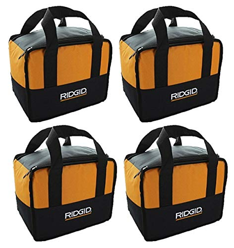 "(4) Ridgid Tool Bags (11""x8""x5"") Carrying Cases For 18v Drill Impact & Battery (Bulk Packaged)"