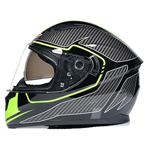 Casco de Motocross de Doble Cristal Modular para Hombres y Mujeres, protección Completa de la Cara, antiempañamiento, protección Total de la Cara, 23 Colores Especiales