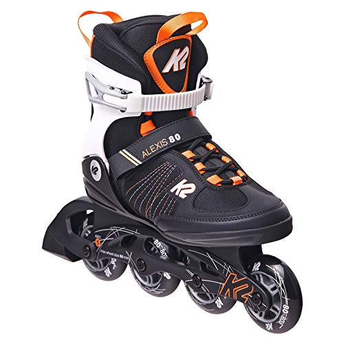 K2 Inline Skates ALEXIS 80 Für Damen Mit K2 Softboot, Black - Orange, 30E0874