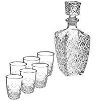 bormioli rocco servizio 7 pezzi liquore vetro dedalo calici vino arredo tavola