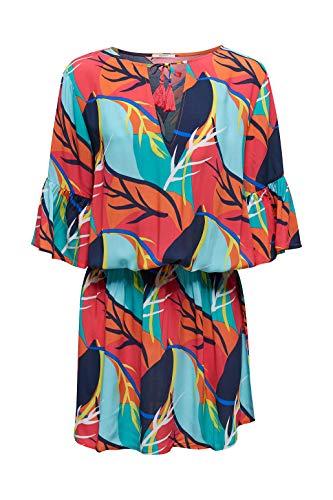 ESPRIT Strandkleid mit Tropical-Print