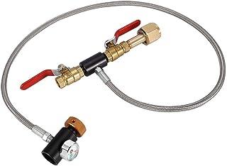 Jimfoty G1/2 CO2 Cylinder Refill Adapter, Refill CO2-slangsystem för Soda Maker maskin CO2-flaskkontakt för Sodastream (36...