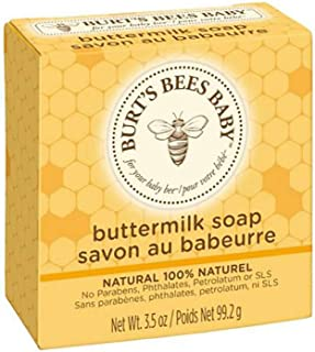 Burt's Bees Baby Buttermilk Soap, 100% Natural Baby Soap Bar, 3.5 Ounce Bar,pack of 3