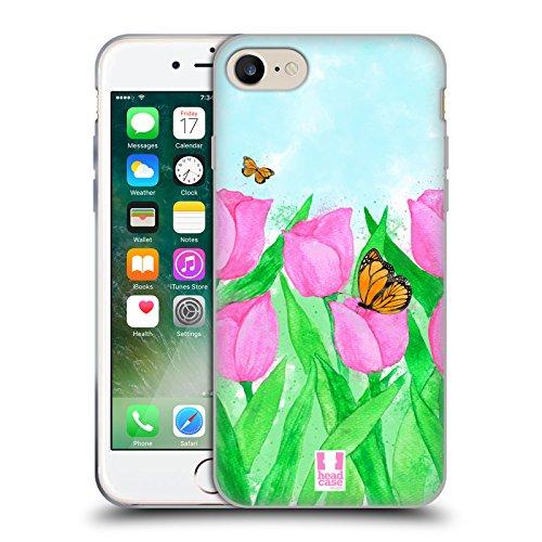 Head Case Designs Tulipani Delicati Fiori Primaverili Cover in Morbido Gel e Sfondo di Design Abbinato Compatibile con Apple iPhone 7 / iPhone 8 / iPhone SE 2020