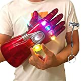 Pucloce Man Infinity Gauntlet Adult Electronic Infinity Glove with Removable Magnet Infinity Stones-3 Flash Mode.