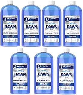 PACK OF 7 - Dawn Platinum Erasing Dishwashing Foam Refill Fresh Rapids Scent 30.9 Fl Oz