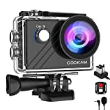 GOOKAM 4K 20MP Action Camera WiFi EIS Underwater 40M Waterproof Sports Camera 170° Wide-angle with External Microphone/Remote Control/2 Rechargeable 1200mAh Batteries/Mounting Accessories Kit