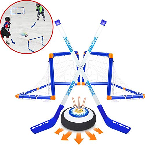 TOMATION Mini Hockey Set-2er, FunHockey Schläger Set, Kinderspielzeug Hover Hockey Set