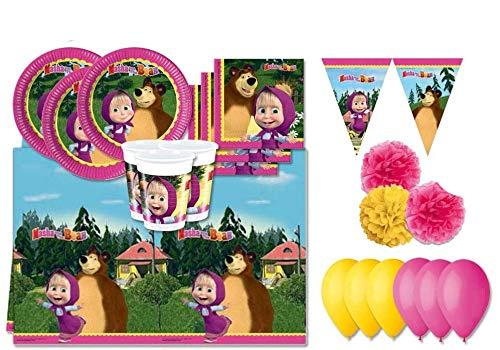 Procos - Kit N 46 conjunto de cumpleaños Masha y el oso