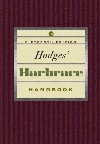 Price comparison product image Hodges Harbrace Handbook