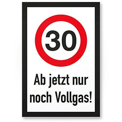 DankeDir! 30 Jahre Vollgas - Kunststoff Schild, Geschenk 30. Geburtstag, Geschenkidee Geburtstagsgeschenk Dreißigsten, Geburtstagsdeko/Partydeko/Party Zubehör/Geburtstagskarte
