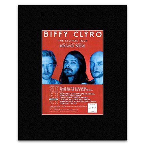 Stick It On Your Wall Biffy Clyro–Die Ellipsis Tour 2016–Ausverkauft Datum Mini Poster–40,5x 30,5cm