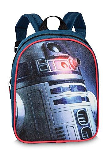 Disney Star Wars Kinder Rucksack Tasche Blau Rot R2-D2 Kindergartentasche