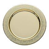 SPXMX 2 Placas de Discos de Acero Inoxidable de 30 mm, Platos para el hogar, Placas de exhibición de hoteles, Barbacoa electrochapada p