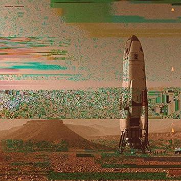 rocket on mars