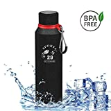 Botella de Agua Acero Inoxidable, 720ml Aislamiento de Vacío de Doble Pared Botella termica, sin BPA Botella Agua Deporte, para Viaje, Deporte, Bicicleta, Gimnasio, Camping