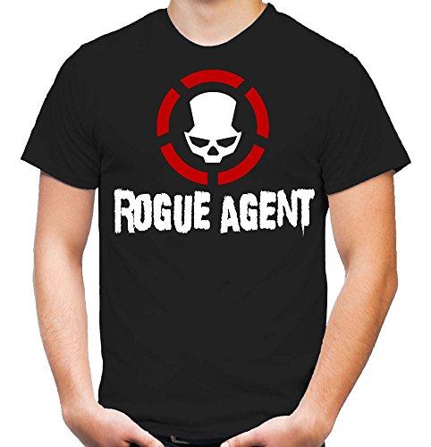 Rogue Agent T-Shirt | Dark | Zone | Division | Herren | Männer | Schwarz | Spiel | PC | Konsole (S)