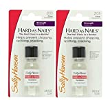 Sally Hansen Hard As Nails Clear 0.45 Ounce (Blister) (13ml) (2 Pack)
