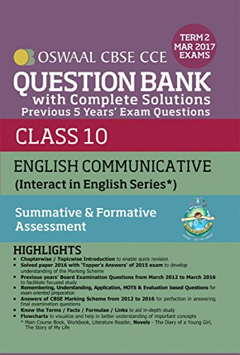 Oswaal CBSE CCE Question Bank With Complete Solutions For Class 10 Term II (October to March 2017) English Communicative (English Edition)