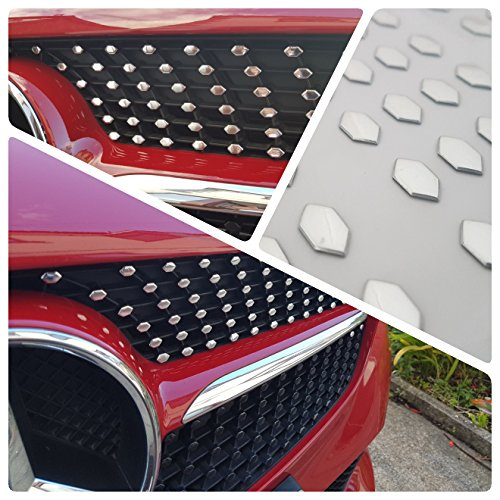 W176 CLA GLE Diamond Grille Look Chrome Stickers 3D