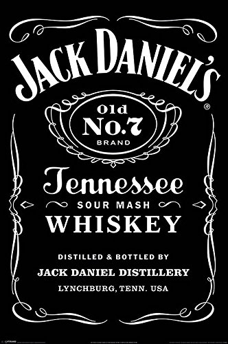 Unbekannt Jack Daniels - Black Label - Whiskey Bars Spirituosen Poster Plakat Druck - Grösse 61x91,5 cm