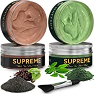 Black and Green Tea Mask - Natural Soothing Wash-Off Hydrating Matcha Avocado Facial Masks - Cleanse and Detoxify, Vegan Cruelty-Free, Fragrance-Free