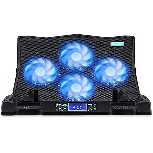 YWYW Almohadilla de enfriamiento para computadora portátil y portátil, Base de enfriamiento para computadora portátil para Juegos, Soporte de Soporte de elevación de enfriamiento para computadora