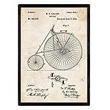 Nacnic Stampa Artistica Vintage con in Primo Piano Bici d'Epoca. Dettaglio Progetto Pedali...