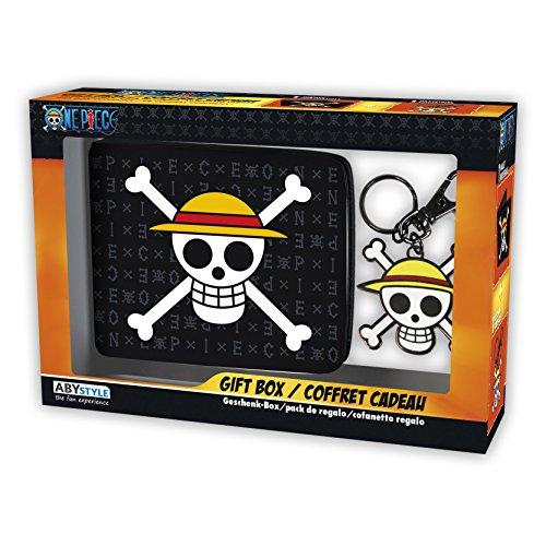 ABYstyle-Monedero con Llavero de One Piece con Calavera y Sombrero