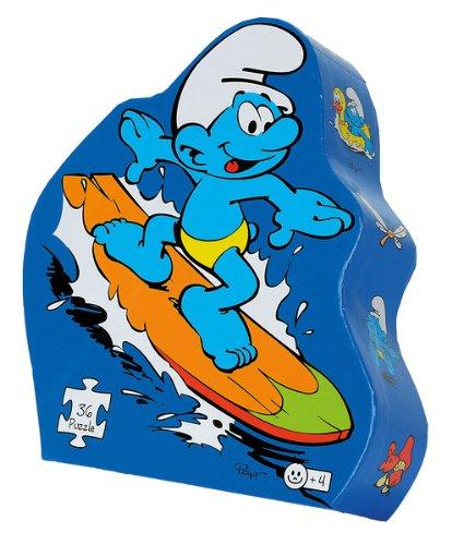 Noris 606031007 - Die Schlümpfe - Surfer Puzzle, 36 Teile