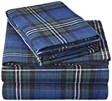 Pinzon Plaid Flannel Bed Sheet Set - Queen, Blackwatch Plaid