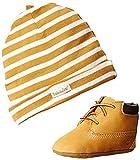 Timberland - Patucos y casquillo para bebés, Multicolor (Amarillo/ Blanco), 18.5