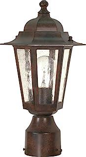 Nuvo Lighting 60/995 One Light Lantern Post Mount, Bronze/Dark