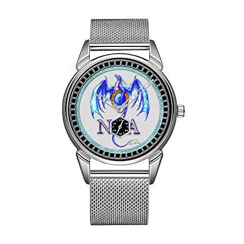 Havanese Full.png Reloj de hombre de acero inoxidable, resistente al agua, reloj para hombre