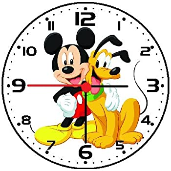RUSCH Mickey Mouse and Pluto Wall Clock