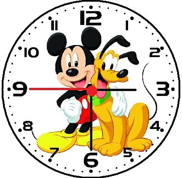 Rusch Inc Mickey Mouse And Pluto Wall Clock