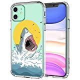 MOSNOVO Shark Pattern Designed for iPhone 11 Case,Clear Case with Design,TPU Bumper with Protective Hard Case Cover