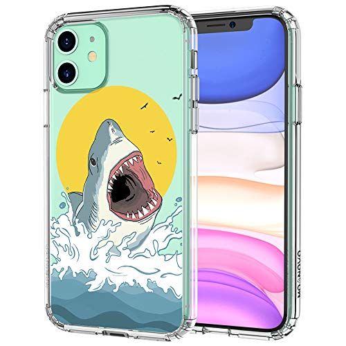 MOSNOVO Shark Pattern Designed for iPhone 11 Case - Clear