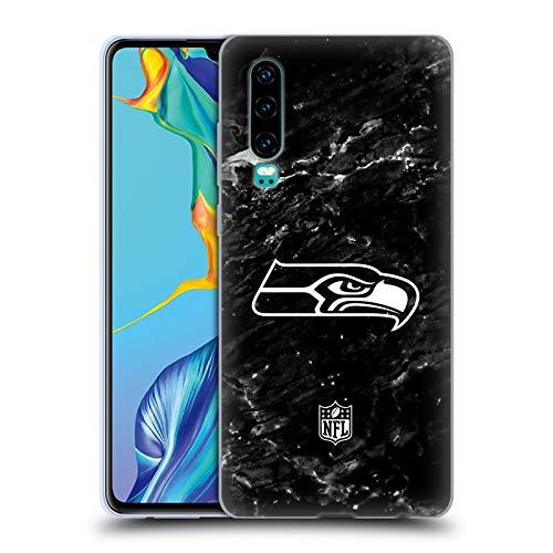 Head Case Designs Offizielle NFL Marmor 2017/18 Seattle Seahawks Soft Gel Huelle kompatibel mit Huawei P30