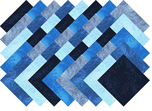 Blue Vine Blender Collection 40 Precut 5-inch Quilting Fabric Charm Squares